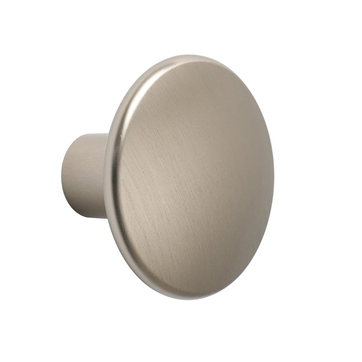 """Wall hook """"The Dots Metal"""" single medium by Muuto in taupe"""