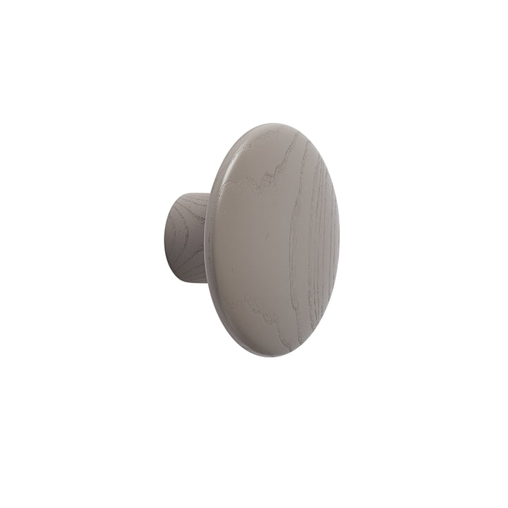 "Wall hook ""The Dots"" single small by Muuto in taupe"