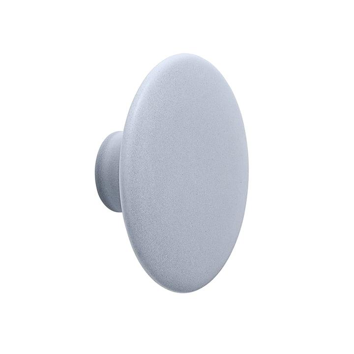 "Wall hook ""The Dots"" ceramic single Ø 13 cm from Muuto in light blue"
