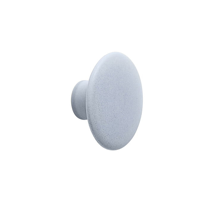 "Wall hook ""The Dots"" ceramic single Ø 9 cm from Muuto in light blue"