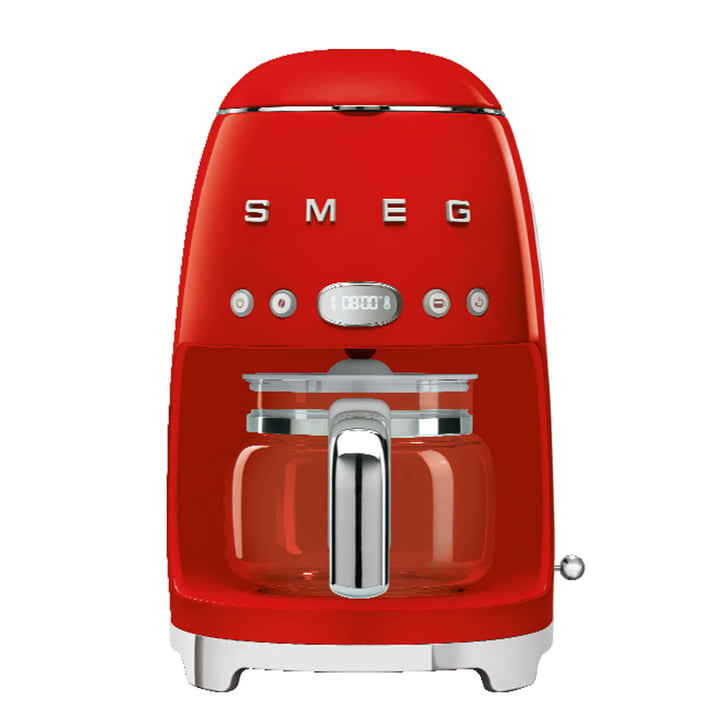Filter coffee maker DCF02 from Smeg in red
