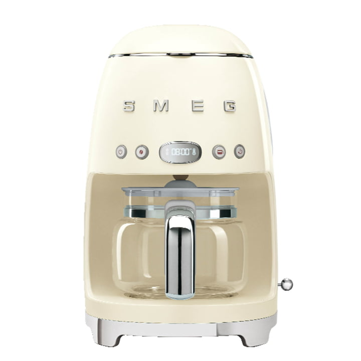 Filter coffee maker DCF02 from Smeg in creme