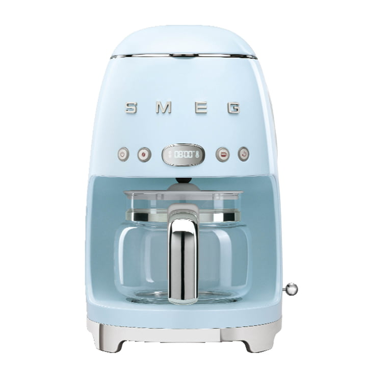 Filter coffee maker DCF02 from Smeg in pastel blue