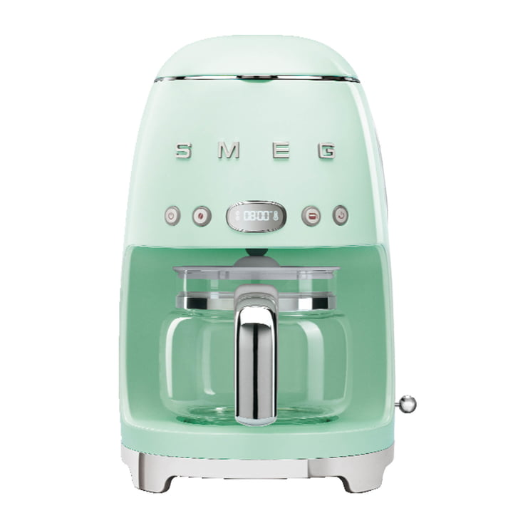 Filter coffee maker DCF02 from Smeg in pastel green