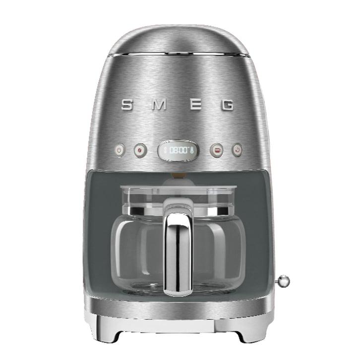 Filter coffee maker DCF02 from Smeg in chrome