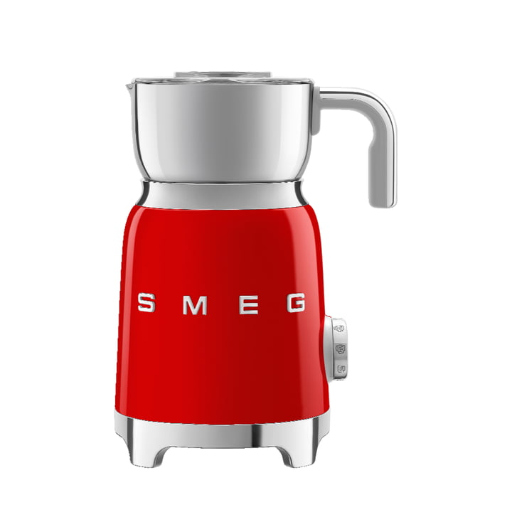 Milk frother MFF01 from Smeg in red