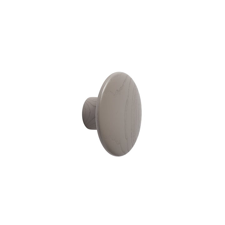 "Wall hook ""The Dots"" single X-Small by Muuto in taupe"