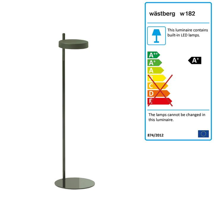 w182 Pastille LED floor lamp f1 from Wästberg in olive green