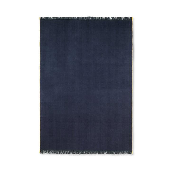 Herringbone blanket 120 x 180 cm from ferm Living in dark blue