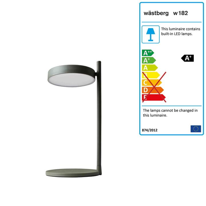 w182 Pastille LED table light b2 from Wästberg in olive green