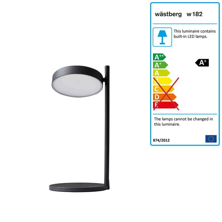 w182 Pastille LED table lamp b2 by Wästberg in graphite black