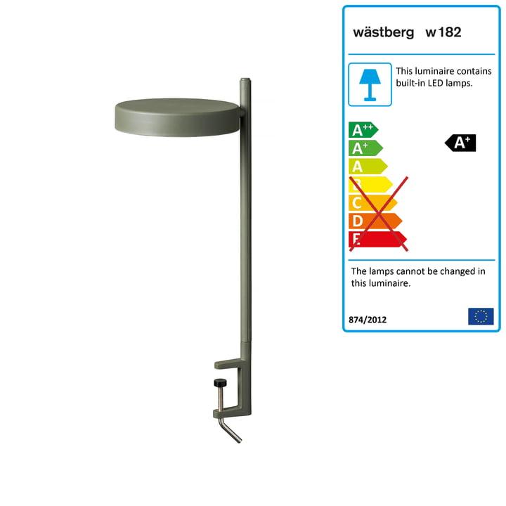 w182 Pastille LED clamp light c2 from Wästberg in olive green