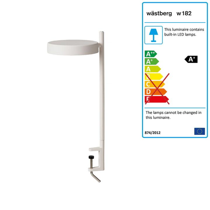 w182 Pastille LED clamp light c2 from Wästberg in soft white