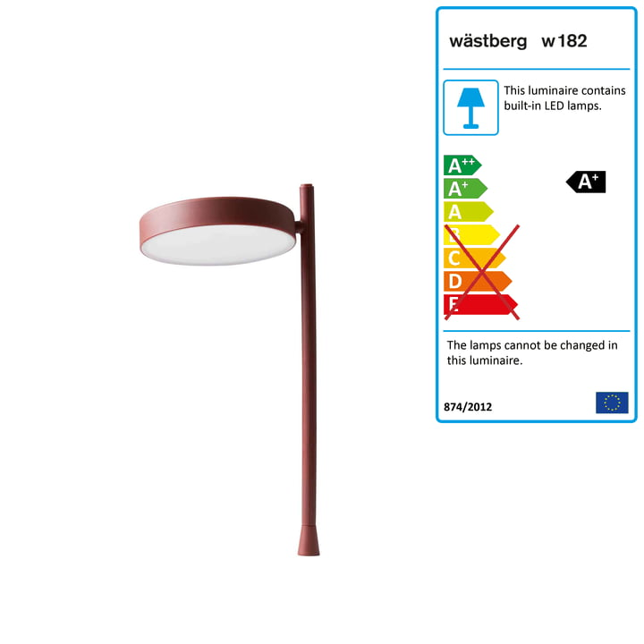 w182 Pastille LED table lamp p2 from Wästberg in oxide red