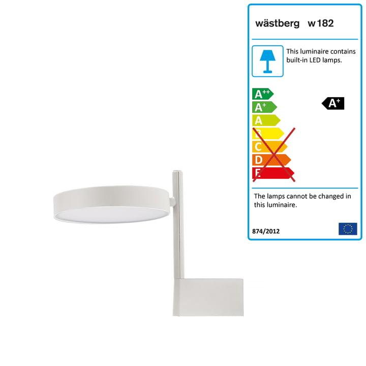 w182 Pastille LED wall lamp br1 from Wästberg in soft white