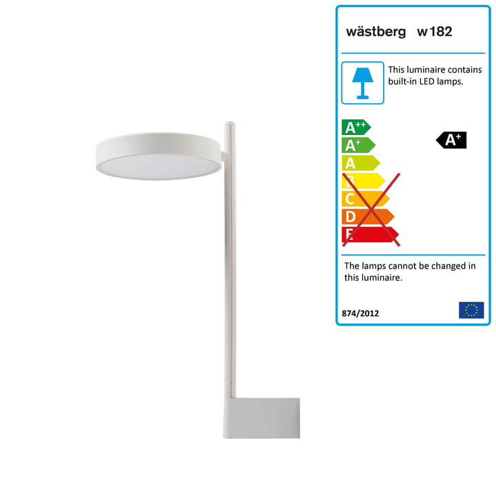 w182 Pastille LED wall lamp br2 from Wästberg in soft white