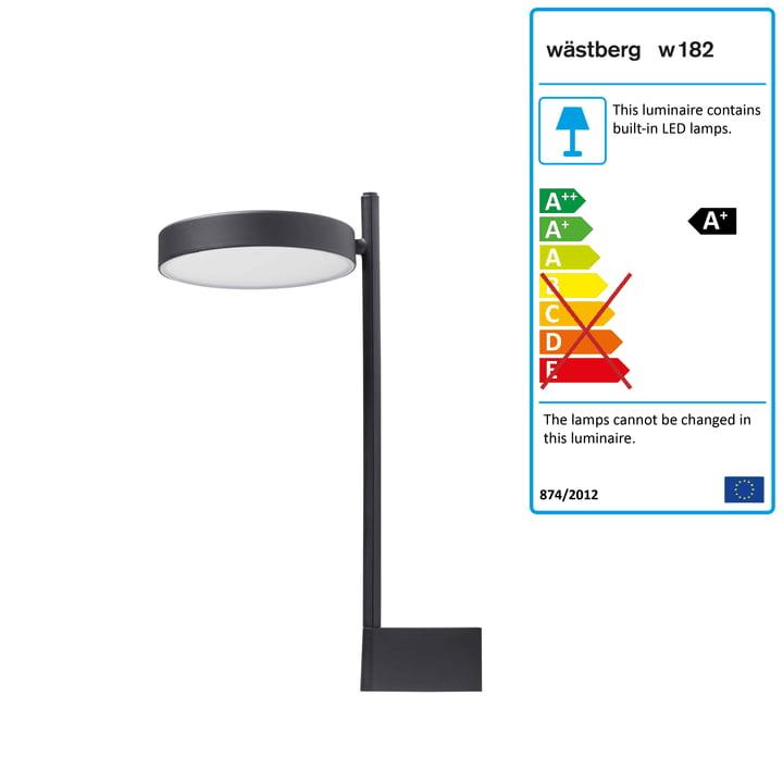 w182 Pastille LED wall lamp br2 from Wästberg in graphite black
