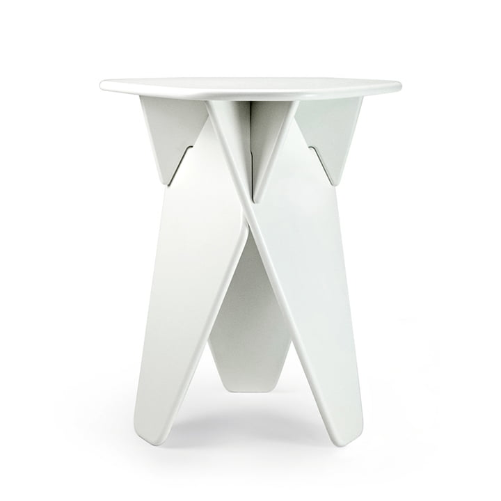 Wedge side table from Caussa in white