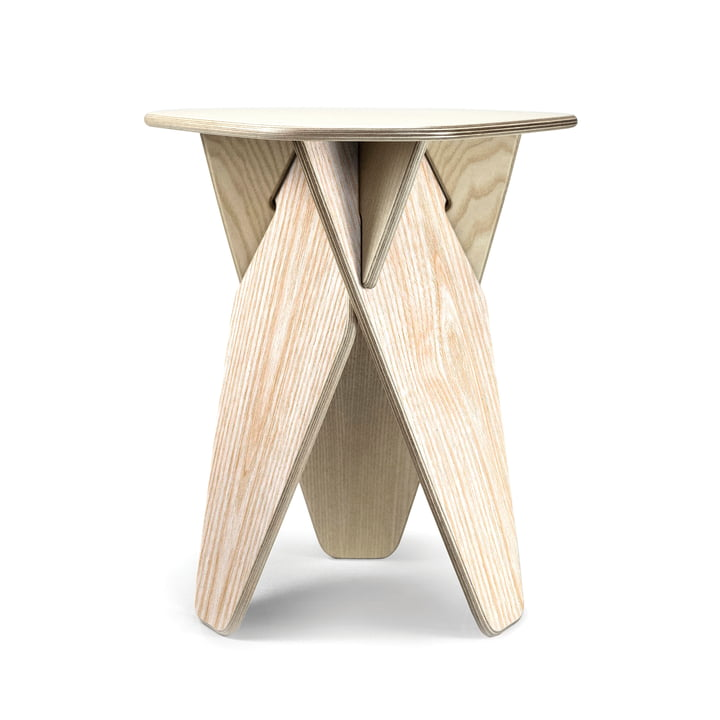Wedge side table from Caussa in ash nature