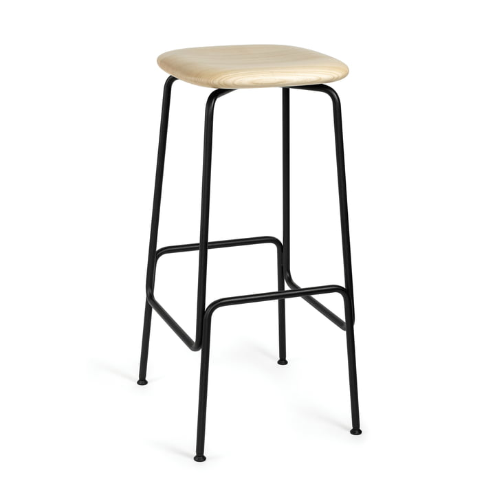 Equo bar stool by Caussa in ash nature / black