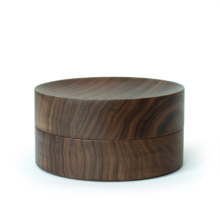 Tani bowl with lid by Caussa in walnut nature