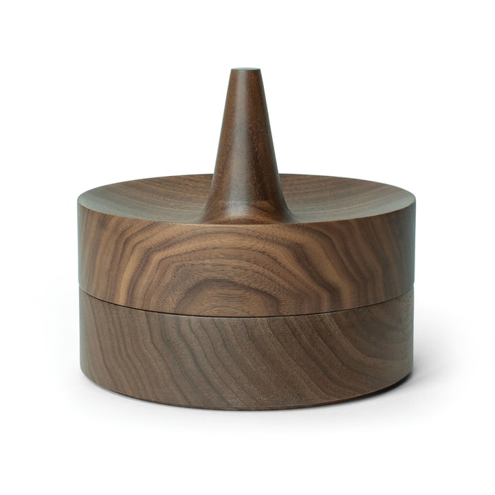 Tani bowl with mirror lid from Caussa in walnut nature