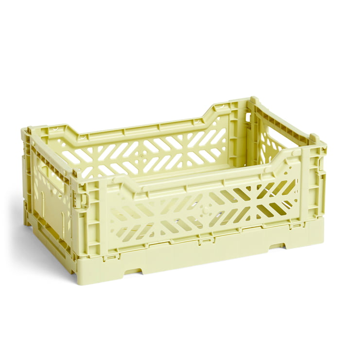 Colour Crate Basket S, 26,5 x 17 cm from Hay in lime