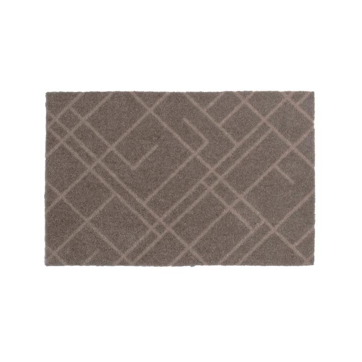 Lines doormat 40 x 60 cm from tica copenhagen in sand / beige