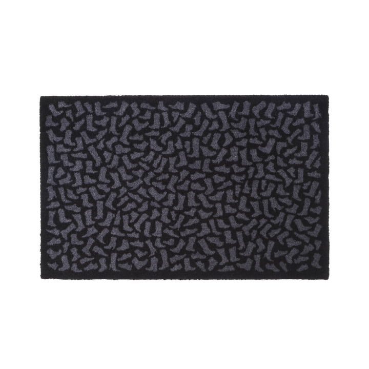 Footwear doormat 60 x 90 cm from tica copenhagen in black / grey