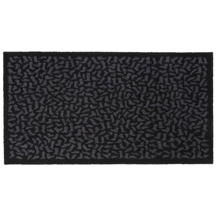 Footwear doormat 67 x 120 cm from tica copenhagen in black / grey