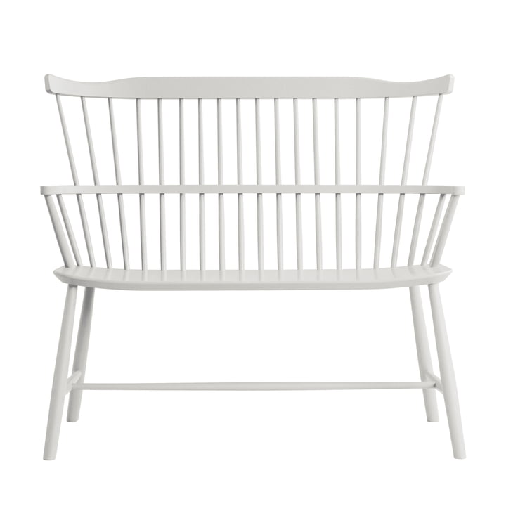 J52D Bench, white beech by FDB Møbler