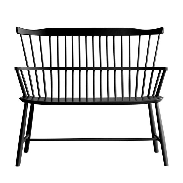 J52D Bench, beech black by FDB Møbler