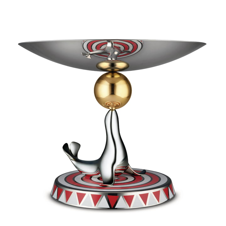 The Seal Etagere Ø 29 x H 23 cm by Alessi in stainless steel (Limited Edition)