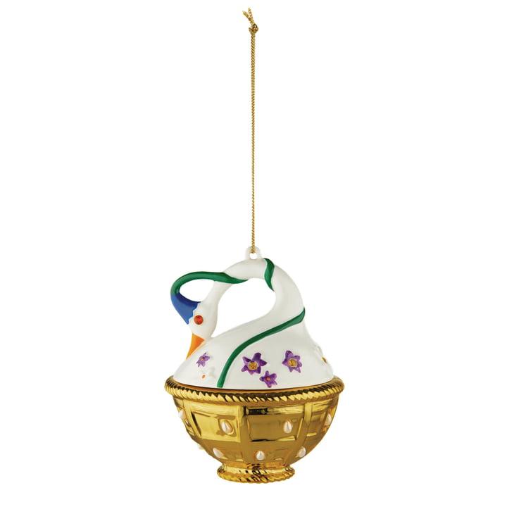 Fleurs de Jori deco ball Cigno di Primavera (MJ16 10) from Alessi