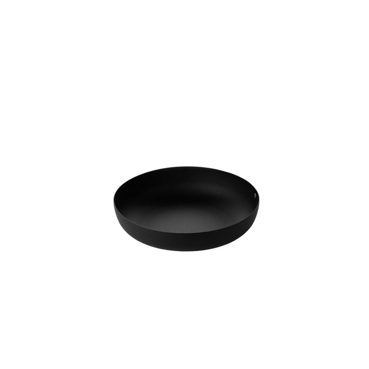 bowl Ø 21 x H 4,7 cm from Alessi in black with relief decoration