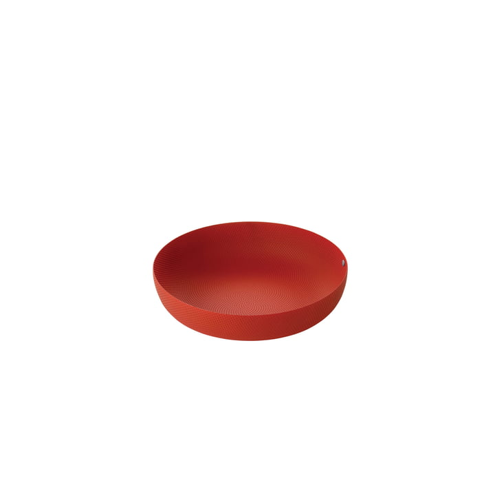 bowl Ø 21 x H 4,7 cm from Alessi in red with relief decoration