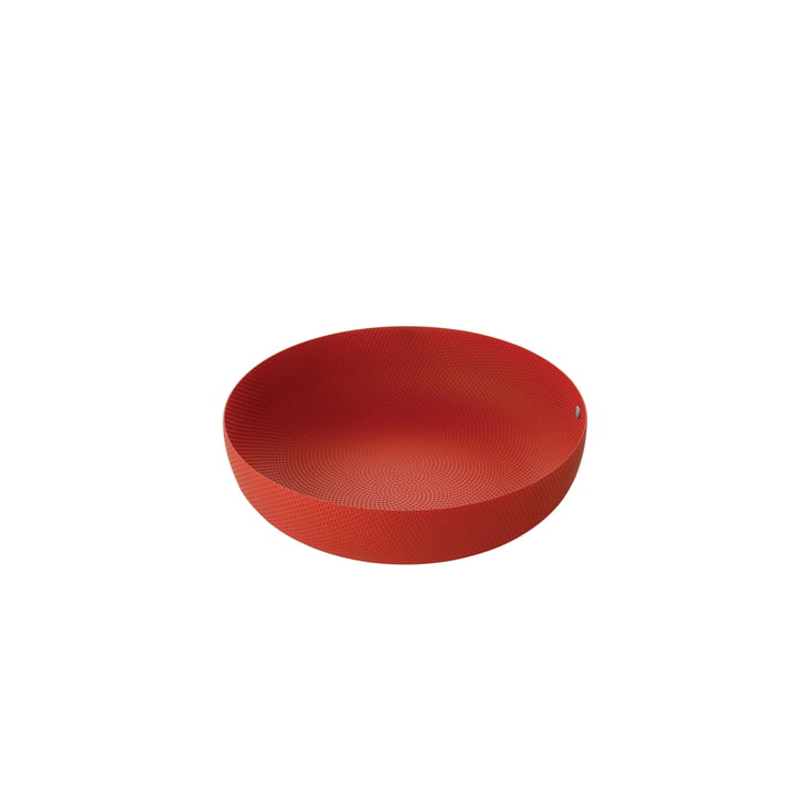 bowl Ø 24 x H 6 cm from Alessi in red with relief decoration