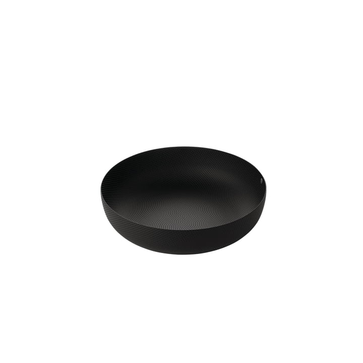 bowl Ø 24 x H 6 cm from Alessi in black with relief decoration
