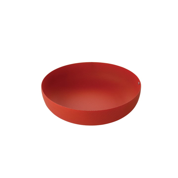 bowl Ø 29 x H 7,5 cm from Alessi in red with relief decoration