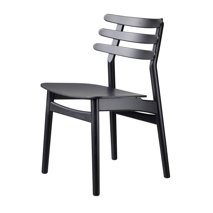 J48 chair, oak black lacquered by FDB Møbler