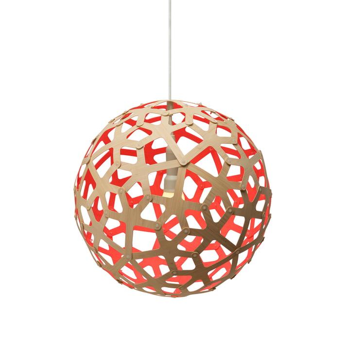 Coral pendant lamp Ø 40 cm by David Trubridge in nature/ red