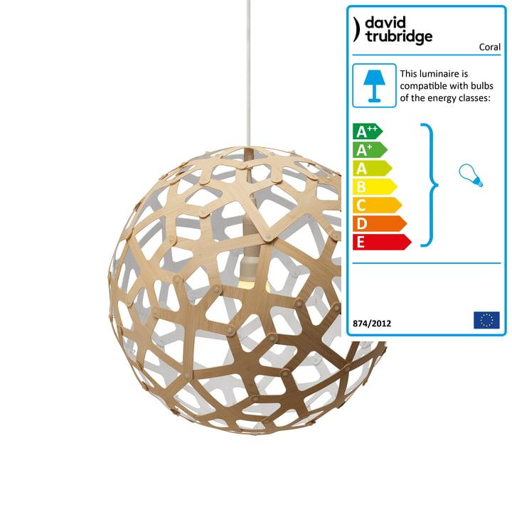 Coral pendant lamp Ø 40 cm by David Trubridge in nature/ white