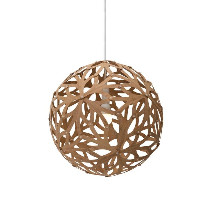 Floral pendant lamp Ø 40 cm by David Trubridge in caramel on both sides