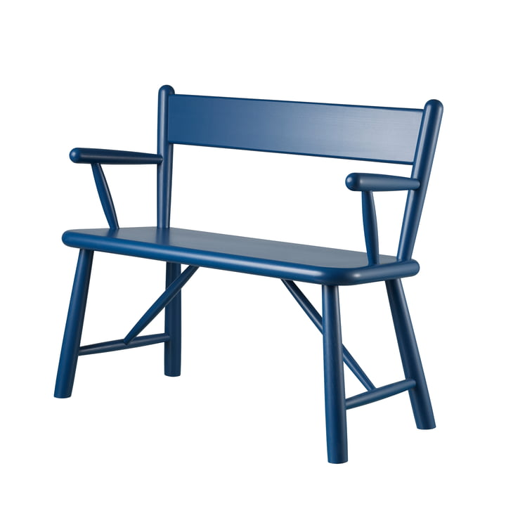 P11 Children's bench by FDB Møbler in birch blue lacquered