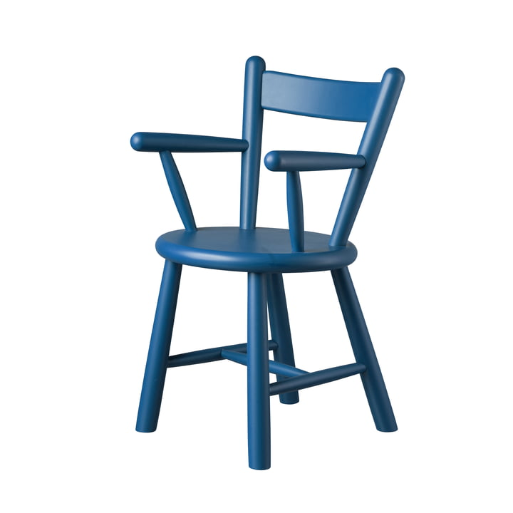 P9 high chair by FDB Møbler in birch blue varnished