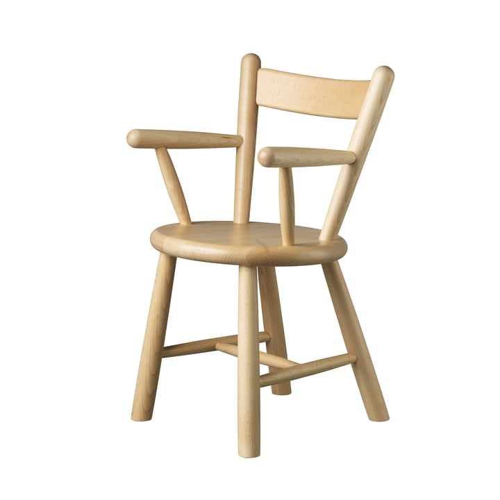 P9 children's chair by FDB Møbler in beech clear varnished