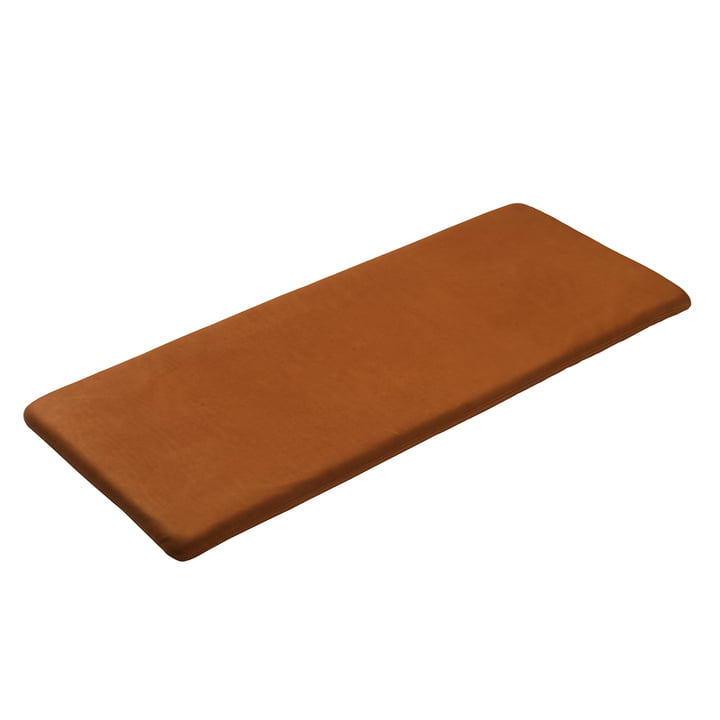 Seat cushion for F24 Radius bench by FDB Møbler in leather cognac