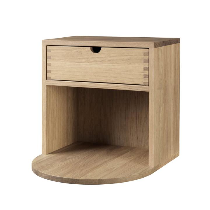B99 Radius wall cabinet, oak matt lacquered by FDB Møbler