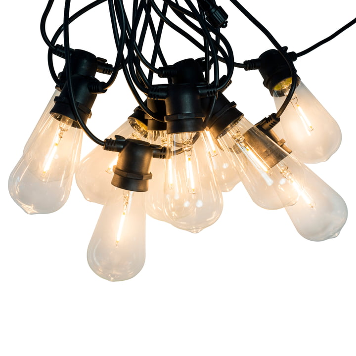 LED light chain for indoors and outdoors