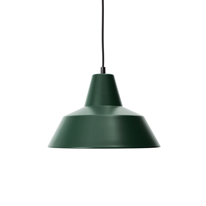 Workshop Lamp W3, racing green / black by Made by Hand